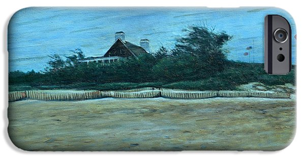 Storm Clouds Cape Cod iPhone Cases - Chatham Lighthouse iPhone Case by Erik Schutzman