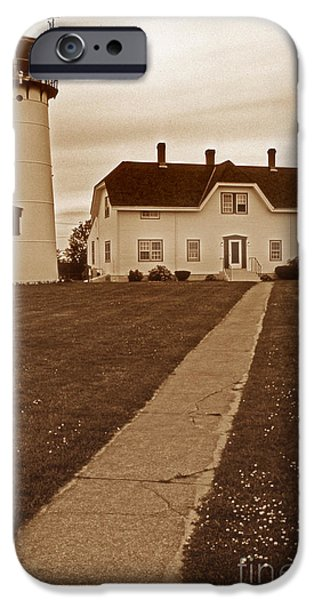 Chatham iPhone Cases - Chatham Lighthouse iPhone Case by Skip Willits