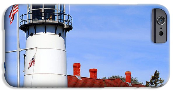 Chatham iPhone Cases - Chatham Lighthouse iPhone Case by Images by Stephanie