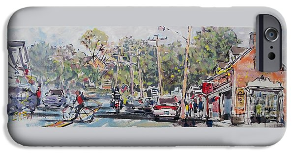 Chatham Drawings iPhone Cases - Chatham Thoroughfare iPhone Case by Larry Lerew