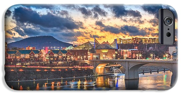 Tennessee River iPhone Cases - Chattanooga Evening After The Storm iPhone Case by Steven Llorca