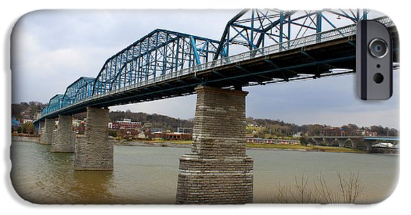 Tennessee Historic Site iPhone Cases - Chattanooga Longest Walking Bridge iPhone Case by Kathy  White