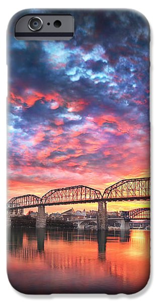 Chattanooga Sunset 4 iPhone Case by Steven Llorca