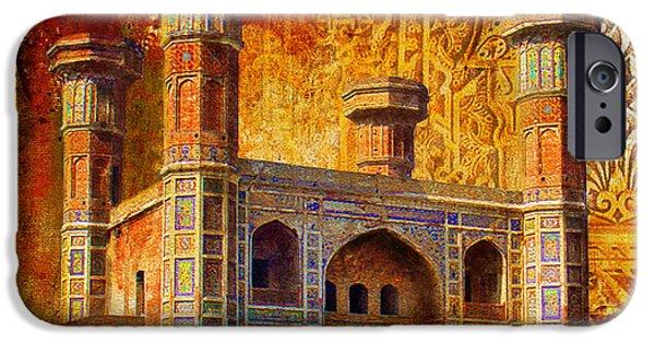 Tomb iPhone Cases - Chauburji Gate iPhone Case by Catf