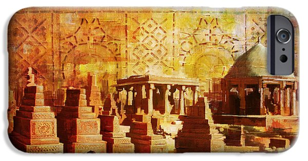 Pakistan iPhone Cases - Chaukhandi tombs iPhone Case by Catf