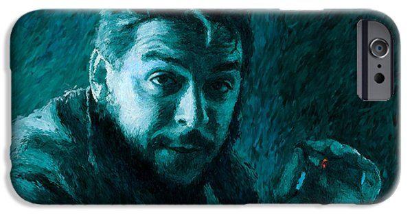 Counterculture iPhone Cases - Che Guevara Blue-Green iPhone Case by Shubnum Gill