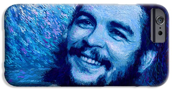 Counterculture iPhone Cases - Che Guevara Blue iPhone Case by Shubnum Gill