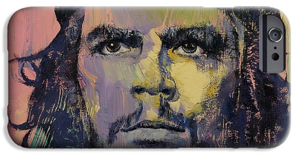 Figures Paintings iPhone Cases - Che Guevara iPhone Case by Michael Creese