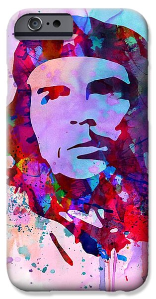 Cuba iPhone Cases - Che Guevara Watercolor 2 iPhone Case by Naxart Studio