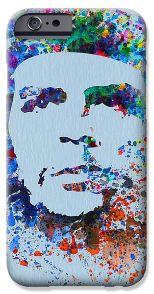 Cuba iPhone Cases - Che Guevara Watercolor iPhone Case by Naxart Studio