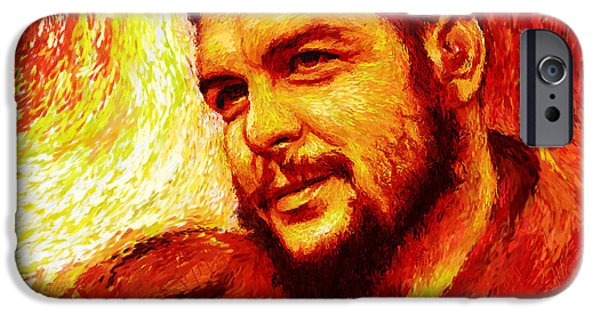 Counterculture iPhone Cases - Che Red-Yellow iPhone Case by Shubnum Gill