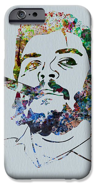 Cuba iPhone Cases - Che Watercolor iPhone Case by Naxart Studio