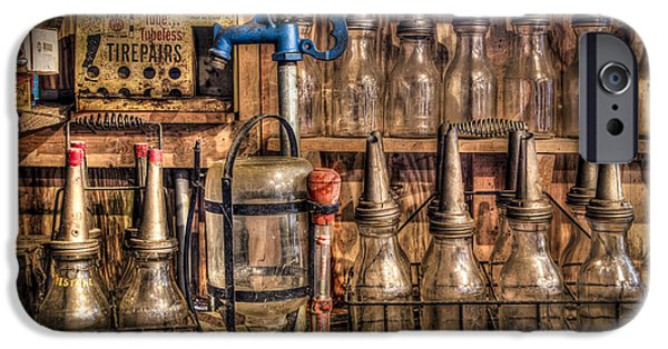 Workbench iPhone Cases - Check Your Oil iPhone Case by Debra and Dave Vanderlaan