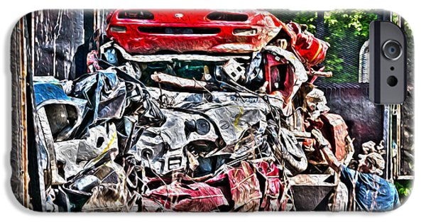 Dismantled iPhone Cases - Checking the Load - Automotive Recycling iPhone Case by Crystal Harman
