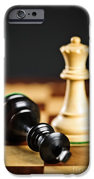 Lost iPhone Cases - Checkmate in chess iPhone Case by Elena Elisseeva