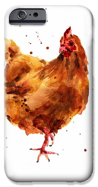 Fowl iPhone Cases - Cheeky Chicken iPhone Case by Alison Fennell