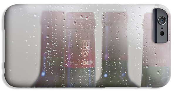 Table Wine iPhone Cases - Cheer on a Rainy Day iPhone Case by Nomad Art And  Design