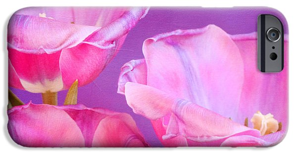 Pinks And Purple Petals iPhone Cases - Cheers iPhone Case by Irina Wardas
