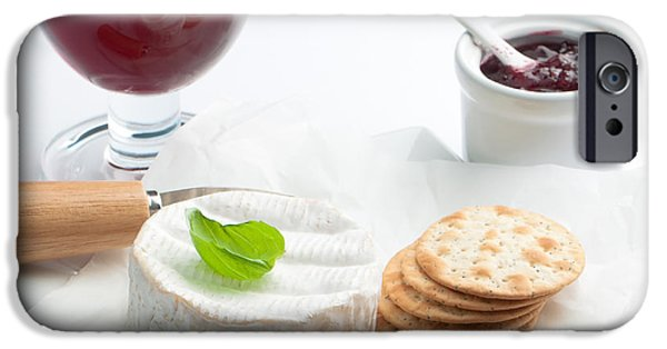 Cheese iPhone Cases - Cheese And Crackers With Wine iPhone Case by Amanda And Christopher Elwell