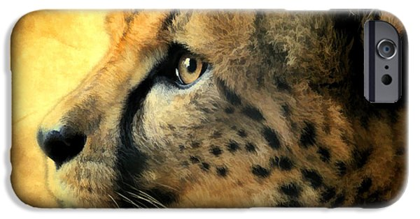 Fury iPhone Cases - Cheetah Cat iPhone Case by Athena Mckinzie