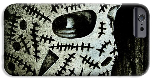 Hockey Paintings iPhone Cases - Cheevers iPhone Case by Marlon Huynh