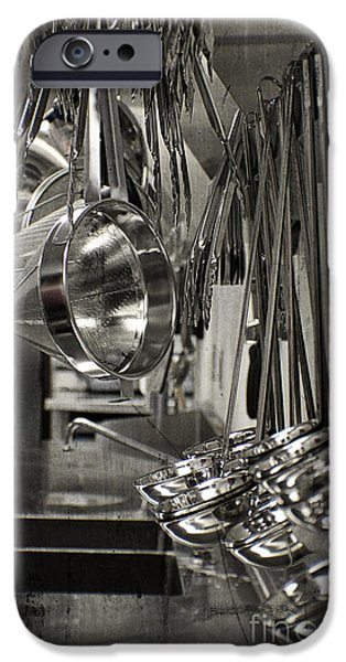 Stainless Steel iPhone Cases - Chef Kitchen Galley View iPhone Case by Ella Kaye Dickey