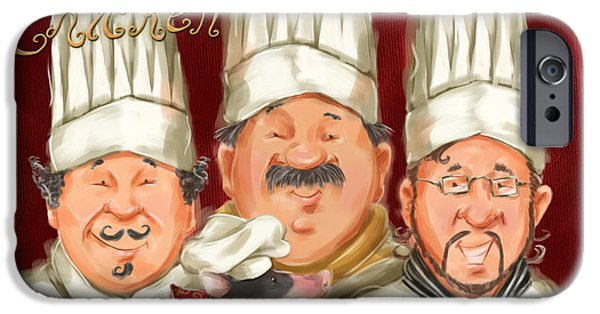 Chef iPhone Cases - Chefs Say Eat Chicken iPhone Case by Shari Warren