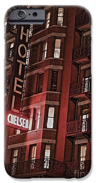 Chelsea iPhone Cases - Chelsea Hotel iPhone Case by David Rucker