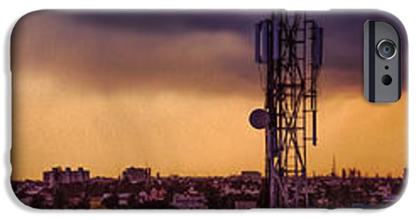 Rainy Day iPhone Cases - Chennai Cityscape iPhone Case by NBS Pictures