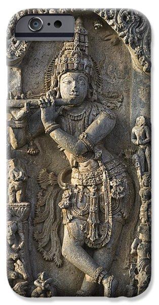 Hindu Goddess iPhone Cases - Chennakesava Temple iPhone Case by Maria Heyens