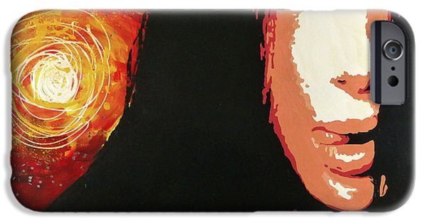 Bono Paintings iPhone Cases - Cher iPhone Case by Jack Hanzer Susco