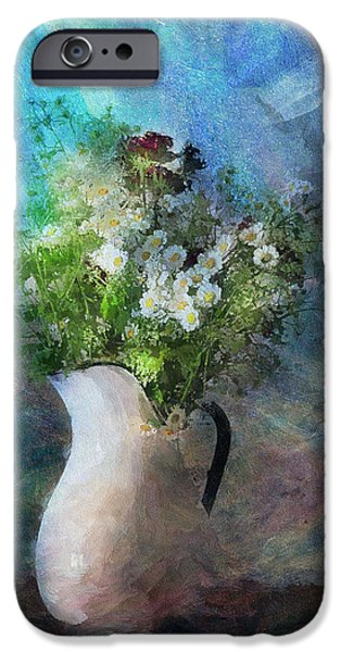 Flower Still Life Mixed Media iPhone Cases - Cherished Rose From Summer iPhone Case by Georgiana Romanovna