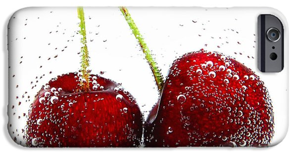 Berry iPhone Cases - Cherries iPhone Case by TouTouke A Y