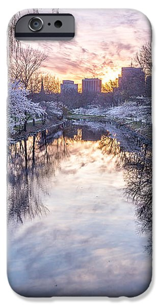 Cherry Blossom Dawn iPhone Case by Susan Cole Kelly