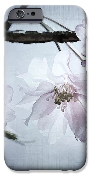 Cherry Blossom Sweetness iPhone Case by Kathy Clark