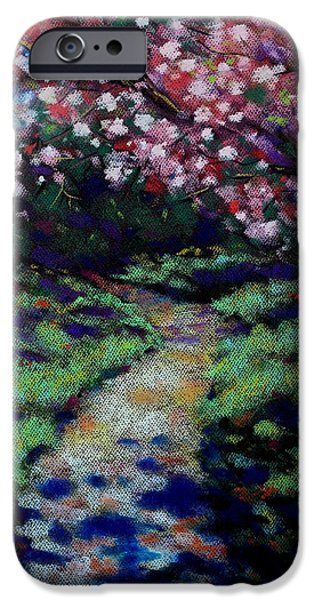 Tree Art Print iPhone Cases - Cherry Blossom Walk  iPhone Case by John  Nolan