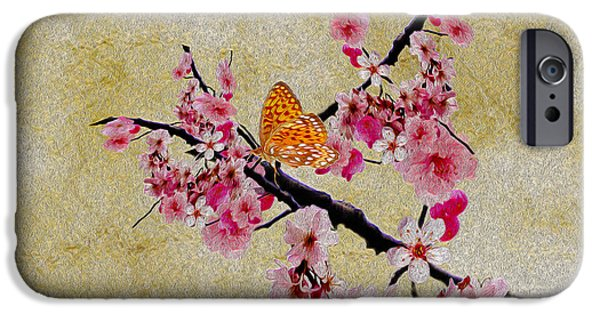 Cherry Blossoms iPhone Cases - Cherry Blossoms iPhone Case by Cheryl Young