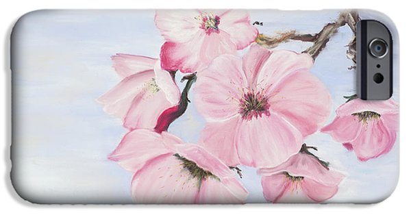 Blossom Pastels iPhone Cases - Cherry Blossoms iPhone Case by Dana Strotheide