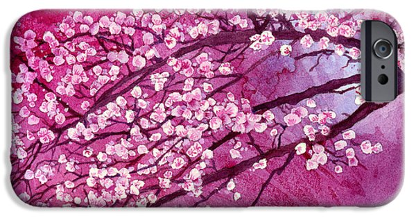 Cherry Blossoms iPhone Cases - Cherry Blossoms iPhone Case by Hailey E Herrera
