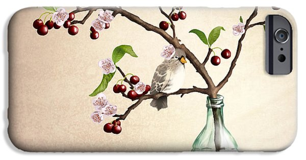 Small Digital Art iPhone Cases - Cherry Coke iPhone Case by April Moen