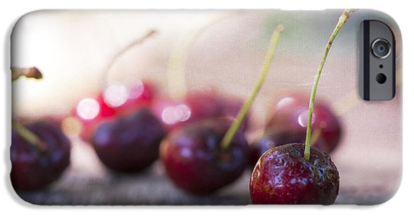 Bokeh iPhone Cases - Cherry Delites iPhone Case by Juli Scalzi