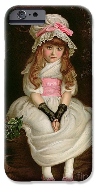 Little Girl iPhone Cases - Cherry Ripe iPhone Case by Sir John Everett Millais
