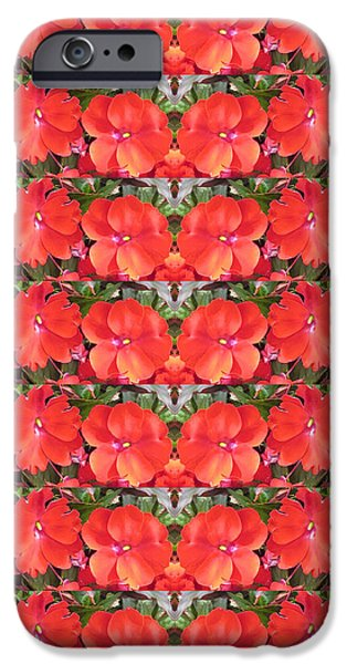 Boston iPhone Cases - CherryHILL  NJ Blood Red Flower Petal Based Stripes Garlands Decorative Gifts iPhone Case by Navin Joshi