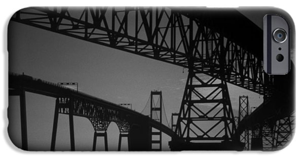 Annapolis Md iPhone Cases - Chesapeake Bay Bridge At Annapolis iPhone Case by Skip Willits