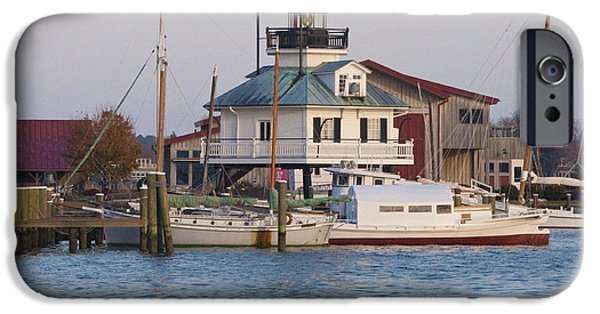 Chesapeake iPhone Cases - Chesapeake Bay - St Michaels Maryland Lighthouse iPhone Case by Bill Cannon
