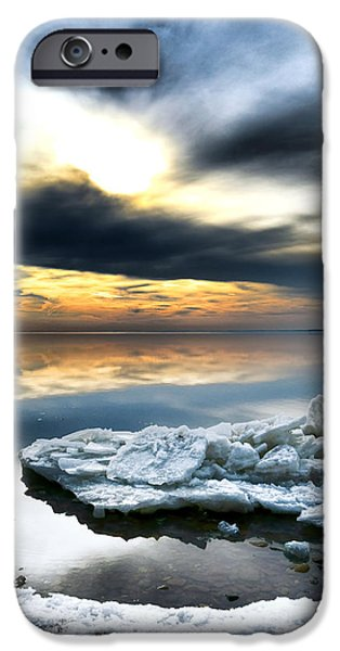 Chesapeake iPhone Cases - Chesapeake Bay Winter iPhone Case by Olivier Le Queinec