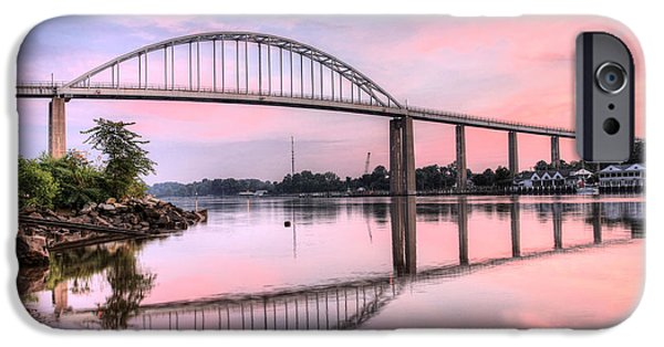 Best Sellers -  - Bay Bridge iPhone Cases - Chesapeake City Pink iPhone Case by JC Findley