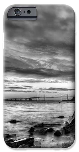 Annapolis Maryland iPhone Cases - Chesapeake Mornings BW iPhone Case by JC Findley