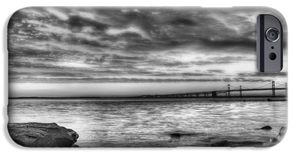 Annapolis Md iPhone Cases - Chesapeake Splendor BW iPhone Case by JC Findley