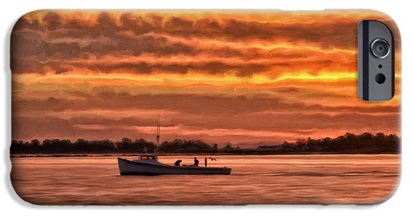 Bayside iPhone Cases - Chesapeake Watermen iPhone Case by Michael Pickett